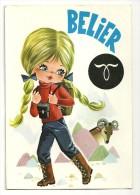 Big Eyes. Bélier. Petite Fille, Tresses Blondes - Astrologie