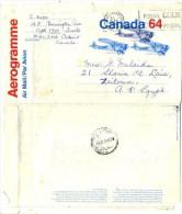 CANADA  - COVER STATIONERY TO -  EGYPT - AIRMAIL - 1953-.... Reinado De Elizabeth II