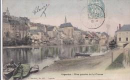 36 ARGENTON  Belle CPA Colorisée Maisons BARQUES Sur La Rive Gauche De La CREUSE  Timbré 1905 - Non Classés