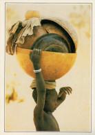 NIGER   BAMBINO CHE TRASPORTA UNA ZUCCA     (NUOVA CON DESCRIZIONE DEL SITO SUL RETRO) - Niger
