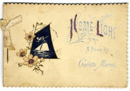 HOME LIGHT A POEM BY   CHARLOTTE MURRAY  -  10 PAGES CARTONNEES   XIX° - Poésie