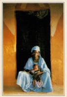 SENEGAL  PODOR:  DONNA SULLA SOGLIA DI CASA      (NUOVA CON DESCRIZIONE DEL SITO SUL RETRO) - Senegal