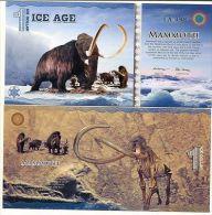 ICE AGE 1 ICE DOLLAR 2014 POLYMER MAMMOTH (ELEPHANT) UNC Fantasy - Banknoten