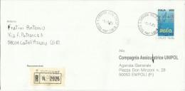 ITALIA REPUBBLICA ITALY REPUBLIC LETTERA RACCOMANDATA REGISTERD LETTER 1 7 1989 LO SPORT ITALIANO CAMPIONATI - 6. 1946-.. Repubblica
