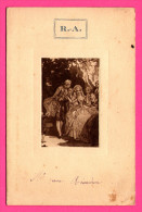 R.A. - Menu Du 21 Juin 1930 - Dessin Gaufré - Service PILET - Villa Régina - Imp. JEULIN - 1930 - Menú