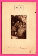 R.A. - Menu Du 21 Juin 1930 - Dessin Gaufré - Service PILET - Villa Régina - Imp. JEULIN - 1930 - Menus