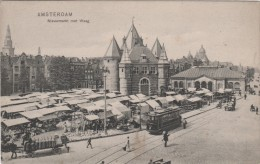 AMSTERDAM, NIEUWMARKT MET WAAG, EDITION TRENKLER, LE MARCHÉ, MARKET - Amsterdam