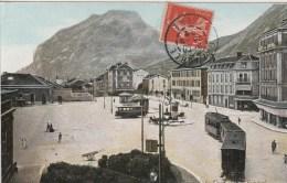 30f - 38 - Grenoble - Isère - Place De La Gare Et Le St-Eynard - LV&Cie - Grenoble