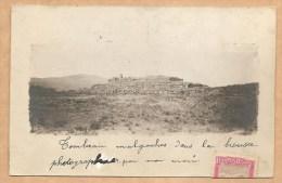CARTE PHOTO - Tombeau Malgaches Dans La Brousse Photographié Par Mon Mari - Voyagée 1912 - CIMETIERE - TOMBE - TOMBEAU - Madagascar