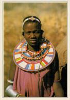 TANZANIA  RITRATTO DI DONNA  MASAI       (NUOVA CON DESCRIZIONE DEL SITO SUL RETRO) - Tanzanía