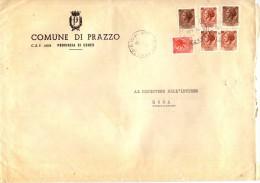 COMUNE DI PRAZZO - 12028 PROV. CUNEO - ANNO 1980 - LS - FTO 18x24 - TEMA TOPIC COMUNI D´ITALIA - STORIA POSTALE - Affrancature Meccaniche Rosse (EMA)