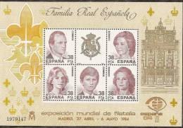 1984-ED.2754 H.B.-EXPO. MUNDIAL DE FILATELIA-ESPAÑA.84-NUEVO- - 1981-90 Unused Stamps