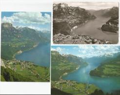 BRUNNEN SZ Blick Vom Urmiberg 3 Karten - SZ Schwyz