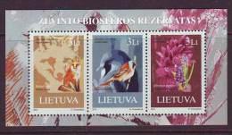 Litauen 2013. Žuvintas Biosphere Reserve. BL. MNH. - Lithuania