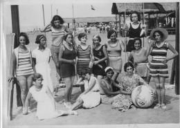 FOTO Originale  FREGENE -- Gruppo Bagnanti -- Agosto 1928 - Anonieme Personen