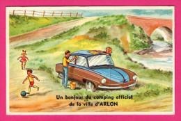 Carte Système Avec 10 Vues - Un Bonjour Du Camping Officiel De La Ville D'Arlon - Voiture - L'HUMBEEKOISE - Arlon