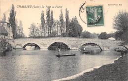 CPA 42 CHARLIEU LE PONT DE PIERRE - Charlieu
