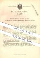 Original Patent - Eduard Musil In Neusiedl Bei Wien , 1882 , Verfahren Zur Herstellung Von Gelbgefasertem Papier !!! - Historical Documents