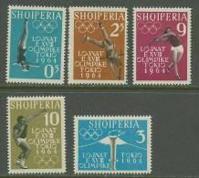Albania 1962 Olympic Games Tokyo Set Of 5 MNH - Summer 1964: Tokyo