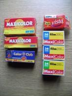 Petit lot 7 pellicules/films pour appareils photos anciens