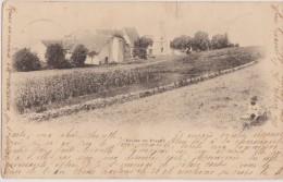Cpa,jura,église De PLASNE En 1901 Authentique Avec Timbre 109 Ans,rare,photo Waille Poligny - Poligny
