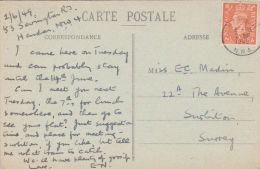 POSTAL HISTORY -HENDON  1949 SINGLE CIRCLE  CANCELLATION - Postcards