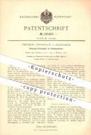 Original Patent - Theodor Geiersbach In Hildesheim , 1899 , Federnde Pressplatte An Formmaschinen , Giesserei !!! - Hildesheim