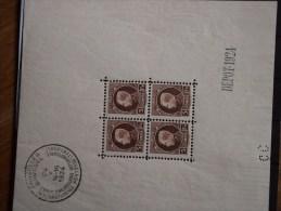 Bloc N°1 à Charnières (léger Pli Vieille Gomme, Affaire à Faire) COB : 300,00€ Départ....40,00€ - Blocks & Sheetlets 1924-1960