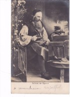 "Carte Photo Signee Nadar 1903 Representant Un Cordonier En Train De Ressemeler Des Chaussures ""delmas De L Opera "" - Photographs"