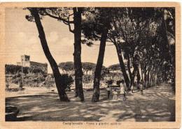 TOSCANA-LIVORNO-CASTIGLIONCELLO VEDUTA PINETA VEDUTA GIARDINI PUBBLICI ANIMATA ANNI 50 - Italia