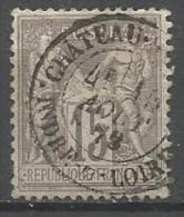 France - Type Sage - N° 77 Obl. CHATEAU-RENAULT INDRE-ET-LOIRE - 1876-1898 Sage (Type II)