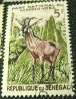 Senegal 1960 Animals From The Niokolo-Koba National Park Hippotragus Equinus 5f - Used - Senegal (1960-...)