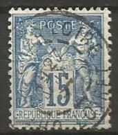 France - Type Sage - N° 101 Obl. CHATEAUNEUF-SUR-LOIRE LOIRET - 1876-1898 Sage (Type II)