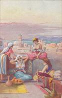Algeria Bedouin Women Topless On Rooftop