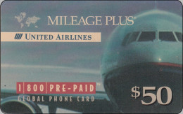 USA Membercard   United Airlines Flugzeug Airline - Vliegtuigen