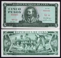 1990-BK-1 CUBA. 5$ ANTONIO MACEO 1990 UNC PLANCHA