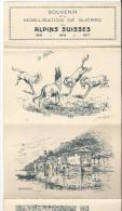 Dépliant Militaire, Souvenir De La Mobilisation De Guerre Des Alpins Suisses 1915, 12 Dessins De Brélaz - Vieux Papiers