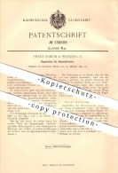 Original Patent - Franz Fadum In Wurzen I. S. , 1901 , Regulierdüse Für Bunsenbrenner , Gas , Gasbrenner !!! - Wurzen