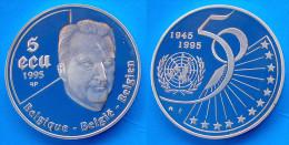 BELGIO 5 E 1995 ARGENTO PROOF BELGIQUE BELGIE BELGIEN CORONA PESO 22,85g TITOLO 0,925 CONSERVAZIONE FONDO SPECCHIO. - Paesi Bassi