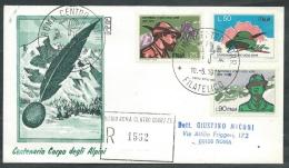 1972 ITALIA FDC RODIA CORPO DEGLI ALPINI TIMBRO ARRIVO - EDG29 - F.D.C.