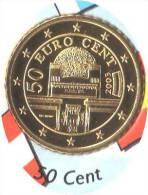 ** 50 CENT AUTRICHE 2003 PIECE NEUVE ** - Autriche
