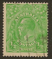 AUSTRALIA 1914 1/2d Yell Green KGV SG 20c U #LU25 - 1913-36 George V: Köpfe