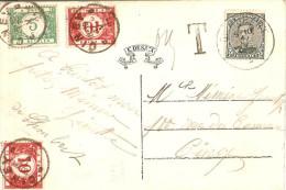 Emission 15 Saint-Hubert Pour Ciney 1921 TX26 Et TX27 - Postage Due