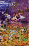 Télécarte NEUVE Dorée Japon / MF-1001306 - DISNEY HALLOWEEN 2002 - DISNEYLAND Japan Gold LINT Phonecard Bat - Disney