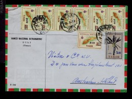 Portugal Timor Native Arts Maps Cover 7x Overprint / Surcharge 1966 Gc2291 - Arbres
