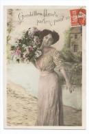 FEMMES - FRAU - LADY - Jolie Carte Fantaisie Jeune Femme PORTRAIT - Mujeres