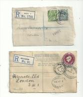 2 LR  De GRDE BRETAGNE  De 1923  ( Entier ).+ Un Feuillet D´oblitérations Diverses.......à Voir...... - Ohne Zuordnung