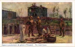 6 MINT Postcards Military WAR 1914-1918 TRANCHES Nieuport Diver Escaphandrier MINT - Original Envelope (used!) See Scans - Lynen, Amédée-Ernest