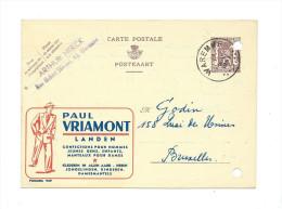 Publibel Obl. N° 929 ( Paul VRIAMONT  -  Landen  Confection) (2 Trous De Classement !!!) - Publibels