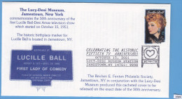 + USA 2001; Postal Stationery; Celebrating The Historic 50th TV Anniversary, Lucille Ball, Comedian - Entiers Postaux